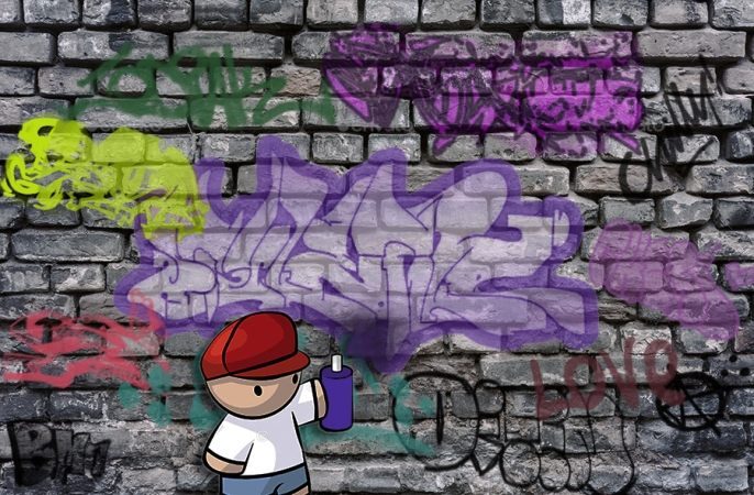 Dirty abandoned old brick wall background